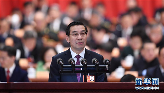 李惠东代表民革中央作政协大会发言