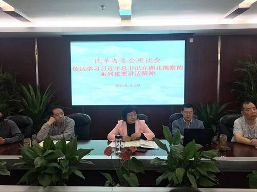 民革湖北省委会传达学习习近平总书记湖北视察重要讲话精神